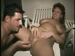 Deutsch reife spielt mit Ehemann saugt seinen Knopf und Ficken